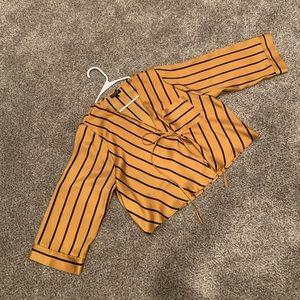 Topshop Tie Wrap Blouse